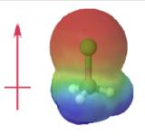electrostatic potential map of chloromethane