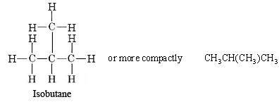 2-methylpropane expanded structural formula  15.15: Alkanes - Chemistry LibreTexts